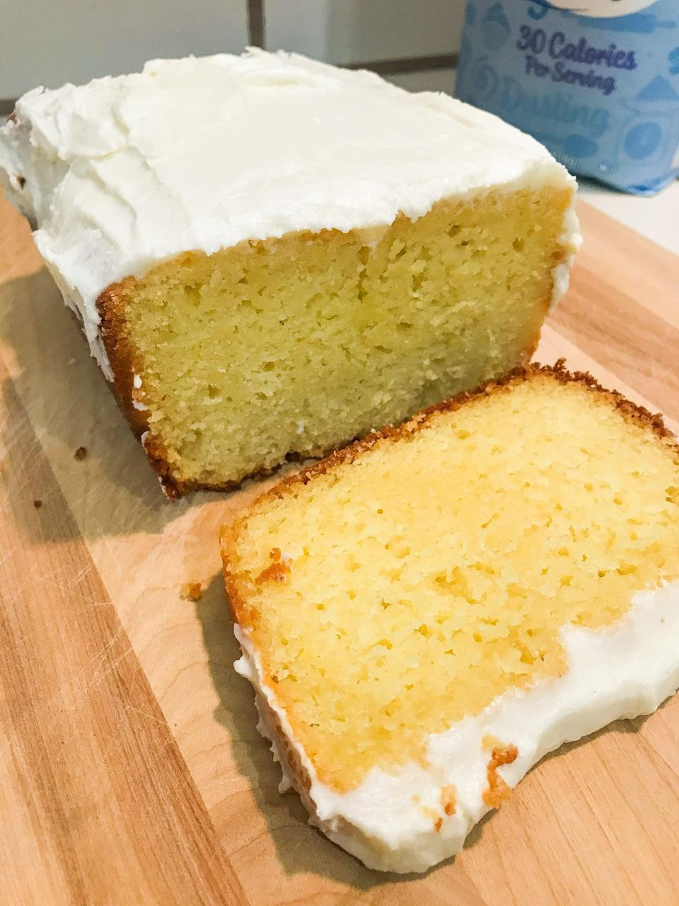 """<p>Make the famed lemon pound cake at home with this tasty recipe. With simple ingredients and easy steps, you won't be able to get enough.</p> <p><strong>Original Starbucks Food:</strong> <a href=""""http://www.starbucks.com/menu/food/bakery/iced-lemon-pound-cake-lb"""" class=""""link rapid-noclick-resp"""" rel=""""nofollow noopener"""" target=""""_blank"""" data-ylk=""""slk:iced lemon pound cake"""">iced lemon pound cake</a></p> <p><strong>Homemade Version:</strong> <a href=""""https://www.popsugar.com/food/starbucks-iced-lemon-pound-cake-copycat-recipe-47885961"""" class=""""link rapid-noclick-resp"""" rel=""""nofollow noopener"""" target=""""_blank"""" data-ylk=""""slk:iced lemon pound cake"""">iced lemon pound cake</a></p>"""