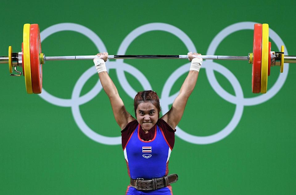 <p>Sopita Tanasan of Thailand competes in the Women's 48kg Group A Final on Day 1 of the Rio 2016 Olympic Games at Riocentro – Pavilion 2 on August 6, 2016 in Rio de Janeiro, Brazil. (Photo by David Ramos/Getty Images) </p>