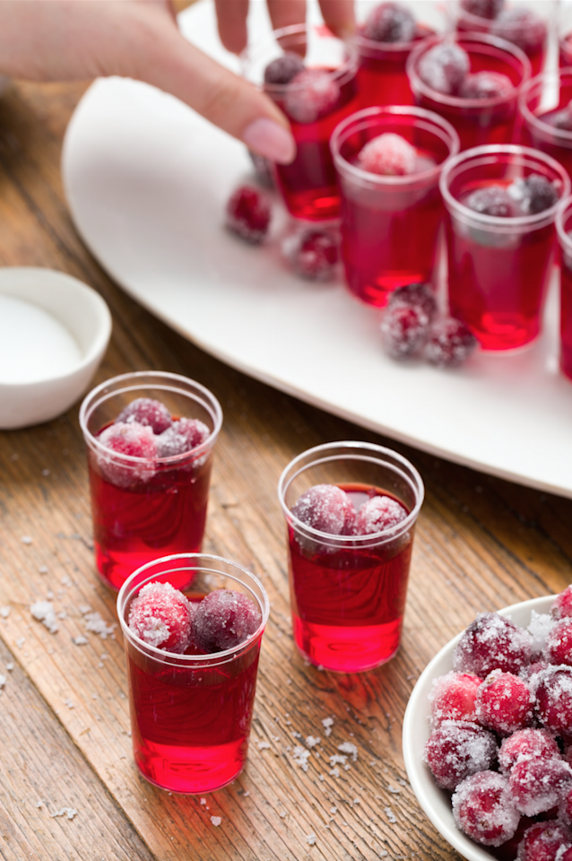 """<p>Cranberry jelly shots are on-theme but far from cheesy—the perfect balance for a Thanksgiving cocktail. And that leaves us with just one question: Can we sub this for cranberry sauce? Asking for a friend.</p><p>Get the recipe from <a href=""""https://www.delish.com/cooking/recipe-ideas/recipes/a44613/cranberry-jello-shots/"""" target=""""_blank"""">Delish</a>.</p>"""