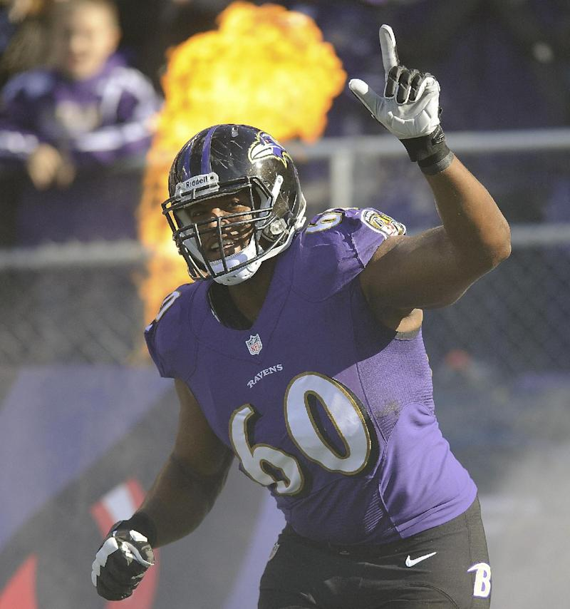 Ravens announce five-year contract for LT Monroe