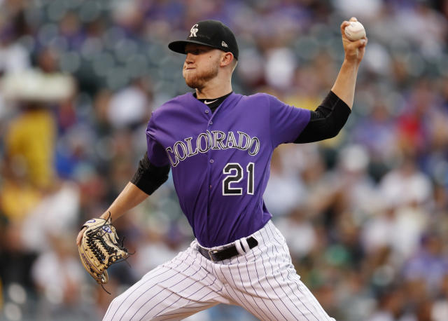 Colorado Rockies starting pitcher Kyle Freeland will pitch three times at Coors Field during the final weeks of the season. (AP)