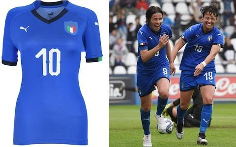 Italy home kit, 2019 Women's World Cup - Credit: PUMA