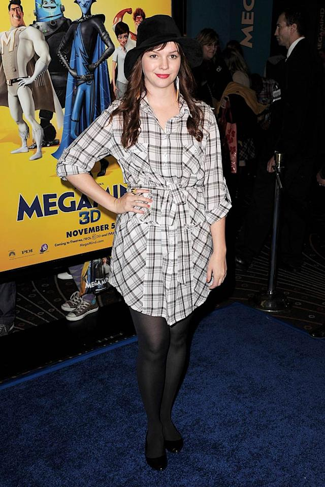 "Clearly, Amber Tamblyn didn't bother to put any effort into the slovenly getup she decided to don for the Los Angeles premiere of ""Megamind."" Jordan Strauss/<a href=""http://www.wireimage.com"" target=""new"">WireImage.com</a> - October 30, 2010"
