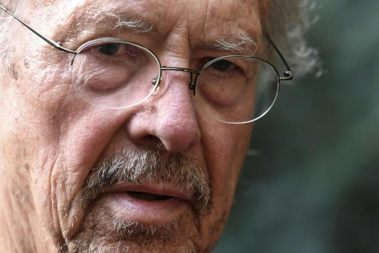 Austrian writer Peter Handke's Nobel literature prize win has irked the Balkans, while voices beyond the region spoke out against honouring an admirer of late Serbian strongman Slobodan  Milosevic; Handke is pictured October 10, 2019