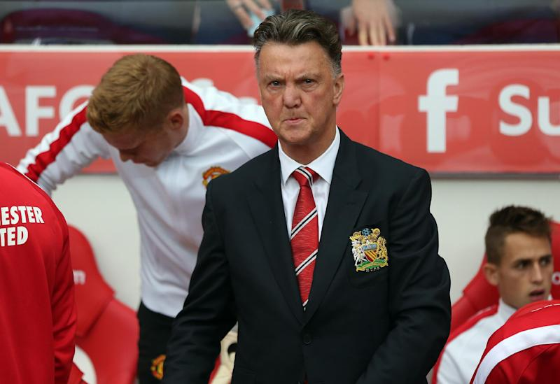 Manchester United's Dutch manager Louis van attends the match against Sunderland at The Stadium of Light in Sunderland, north-east England on August 24, 2014 (AFP Photo/Ian MacNicol, Ian MacNicol)