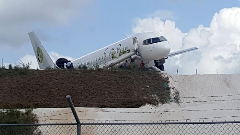 Passenger jet overshoots runway in Guyana, 6 injured