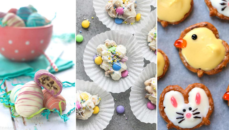 """<p><a href=""""http://www.countryliving.com/easter/"""" rel=""""nofollow noopener"""" target=""""_blank"""" data-ylk=""""slk:Easter"""" class=""""link rapid-noclick-resp"""">Easter</a> simply isn't the same without candy. After all, when you think of the spring holiday, <a href=""""http://www.countryliving.com/diy-crafts/g3099/easter-basket-ideas/"""" rel=""""nofollow noopener"""" target=""""_blank"""" data-ylk=""""slk:Easter baskets"""" class=""""link rapid-noclick-resp"""">Easter baskets</a> filled with cute <a href=""""http://www.countryliving.com/diy-crafts/how-to/a42513/diy-bunny-nest-mason-jar-easter-baskets/"""" rel=""""nofollow noopener"""" target=""""_blank"""" data-ylk=""""slk:chocolate bunnies"""" class=""""link rapid-noclick-resp"""">chocolate bunnies</a> and pretty pastel <a href=""""http://www.countryliving.com/food-drinks/g4158/history-of-classic-easter-candy/"""" rel=""""nofollow noopener"""" target=""""_blank"""" data-ylk=""""slk:Easter candy eggs"""" class=""""link rapid-noclick-resp"""">Easter candy eggs</a> are among the first images that come to mind. From DIY <a href=""""http://www.countryliving.com/food-drinks/a42051/cadbury-creme-egg-facts/"""" rel=""""nofollow noopener"""" target=""""_blank"""" data-ylk=""""slk:Cadbury eggs"""" class=""""link rapid-noclick-resp"""">Cadbury eggs</a> to easy <a href=""""http://www.countryliving.com/food-drinks/a37948/things-you-dont-know-about-peeps/"""" rel=""""nofollow noopener"""" target=""""_blank"""" data-ylk=""""slk:Peeps treats"""" class=""""link rapid-noclick-resp"""">Peeps treats</a>, <span>our</span> homemade Easter candy recipes are so good, you may never buy store-bought candy again. <br></p>"""