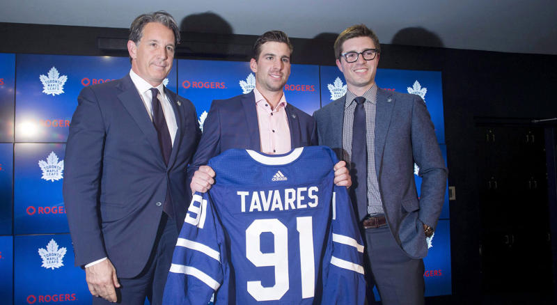John Tavares altered the landscape of the NHL by signing with the Maple Leafs. (THE CANADIAN PRESS/Chris Young)