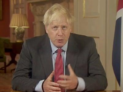 Boris Johnson has made a speech to the nation following new measures for England (UK Prime Minister / Twitter)