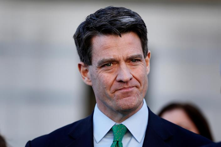 FILE PHOTO: Former deputy executive director of the Port Authority of New York and New Jersey, Bill Baroni, listens as his lawyer speaks following his sentencing in the Bridgegate trial at the Federal Courthouse in Newark, New Jersey
