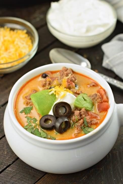 """<p>There's nothing like taco Tuesday, but when your kids are sick, they may not be up for assembling their own tacos. Instead, opt for a bowl of <a href=""""http://www.shugarysweets.com/instant-pot-taco-soup-recipe/"""" target=""""_blank"""" class=""""ga-track"""" data-ga-category=""""Related"""" data-ga-label=""""http://www.shugarysweets.com/instant-pot-taco-soup-recipe/"""" data-ga-action=""""In-Line Links"""">Instant Pot taco soup</a> that combines all of their favorite ingredients to make one easy-to-digest meal.</p>"""