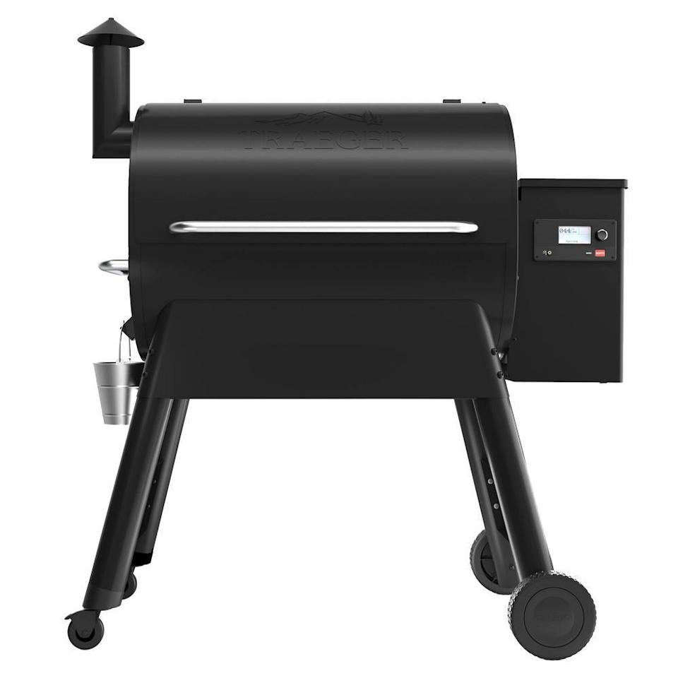 """<p><strong>Traeger</strong></p><p>homedepot.com</p><p><strong>$999.99</strong></p><p><a href=""""https://go.redirectingat.com?id=74968X1596630&url=https%3A%2F%2Fwww.homedepot.com%2Fp%2FTraeger-Pro-780-Wifi-Pellet-Grill-and-Smoker-in-Black-TFB78GLE%2F307316114&sref=https%3A%2F%2Fwww.delish.com%2Fkitchen-tools%2Fg36148334%2Fbest-outdoor-grills%2F"""" rel=""""nofollow noopener"""" target=""""_blank"""" data-ylk=""""slk:BUY NOW"""" class=""""link rapid-noclick-resp"""">BUY NOW</a></p><p>Traeger's Pro 780 Pellet Grill uses unique smart technology so you can control it from anywhere with the app, meaning you don't need to obsessively watch it and can actually enjoy your summer barbecues. It comes with a smoker attached so you can achieve that beloved flavor on your food.</p>"""