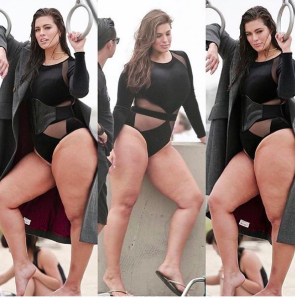 """<p>Plus size model Ashley Graham has long been an ambassador for the Bo-Po movement, so she's certainly not going to let a little cellulite shaming bust her body confidence. Taking to her Instagram to share some unretouched images of her looking totally amazing on a recent photoshoot, she spread a little love yourself love to her followers. """"Someone once told me my thighs were 'cellulite city,'"""" she wrote in the accompanying caption. """"But I now realize these thighs tell a story of victory and courage. I will not let others dictate what they think my body should look like for their own comfort, and neither should you,"""" she said, tagging #beautybeyondsize and #effyourbeautystandards.<i> [Photo: Instagram/theashleygraham]</i></p>"""
