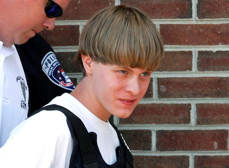 Police lead Dylann Roof into the courthouse in Shelby, North Carolina, on June 18, 2015. (Jason Miczek/Reuters)