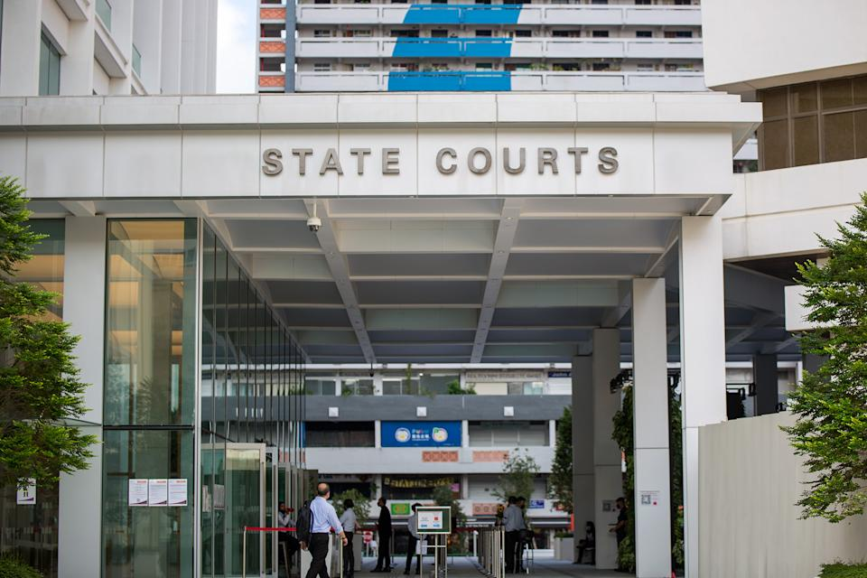 The State Courts building seen on 21 April 2020. (PHOTO: Dhany Osman / Yahoo News Singapore)