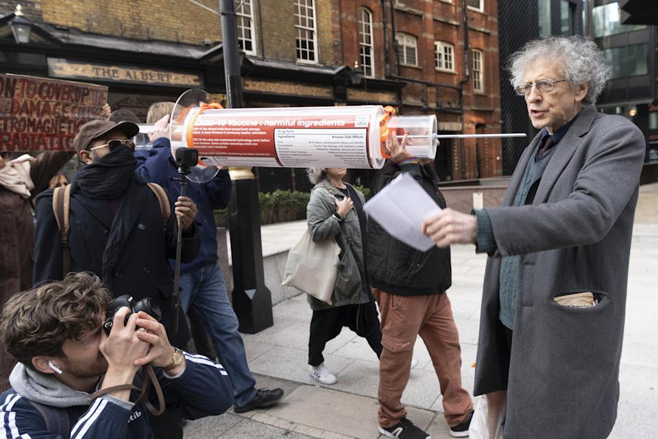 Piers Corbyn features in the documentary on the anti-vax conspiracy. (Photo by Ray Tang/Anadolu Agency via Getty Images)