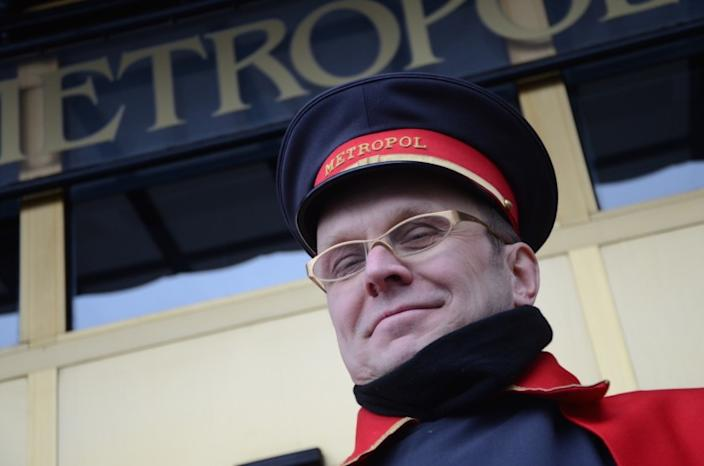 "This kind and patient doorman was working the entrance of Moscow's Metropol hotel on a chilly February day in 2013. <span class=""copyright"">(Christopher Reynolds / Los Angeles Times)</span>"