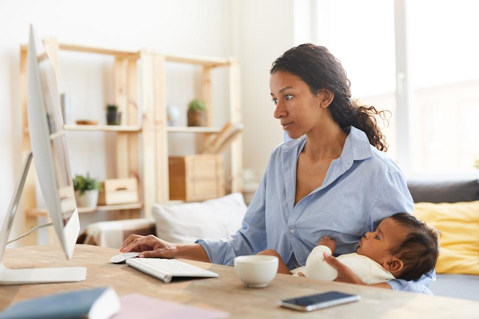 Self-employed mothers have had a particularly rough year, with 74% having had their earning potential reduced because of a lack of access to childcare. Photo: Getty