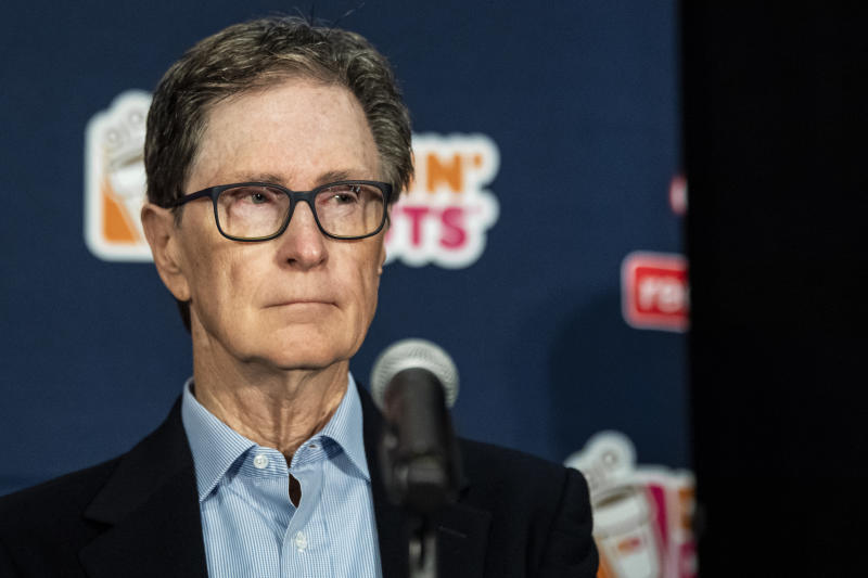 BOSTON, MA - OCTOBER 28: Boston Red Sox Principal Owner John Henry looks on as Chaim Bloom is introduced as Boston Red Sox Chief Baseball Officer during a press conference on October 28, 2019 at Fenway Park in Boston, Massachusetts. (Photo by Billie Weiss/Boston Red Sox/Getty Images)