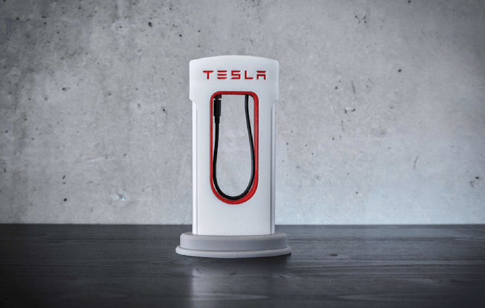 One Tesla superfan decided to pay homage to Elon Musk's company and its ultra-popular cars in a decidedly Tesla-esque way -- with a 3D-printed smartphone Supercharger. And you can print one yourself.