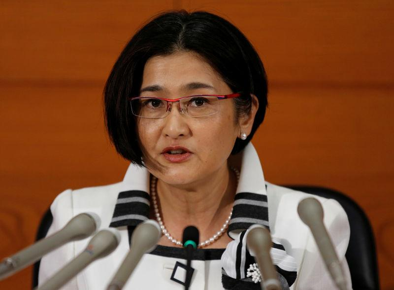 BOJ new board member Masai attends a news conference at the BOJ headquarters in Tokyo