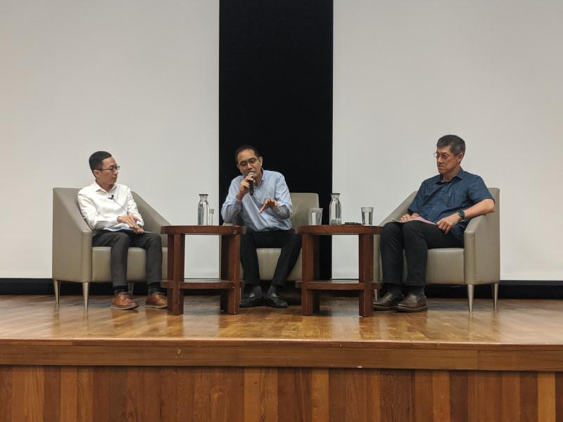 From left to right: Lee Kuan Yew School of Public Policy's Assistant Professor Ng Kok Hoe, Catholic Welfare Services' programme executive Brian Monteiro and MSF senior director Lee Kim Hua at the public seminar on 8 November, 2019. (PHOTO: Wong Casandra/Yahoo News Singapore)