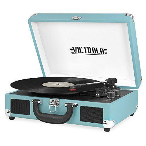 """<p><strong>Victrola</strong></p><p>amazon.com</p><p><strong>$58.99</strong></p><p><a href=""""https://www.amazon.com/dp/B01MQ2RBTZ?tag=syn-yahoo-20&ascsubtag=%5Bartid%7C2089.g.2100%5Bsrc%7Cyahoo-us"""" rel=""""nofollow noopener"""" target=""""_blank"""" data-ylk=""""slk:Shop Now"""" class=""""link rapid-noclick-resp"""">Shop Now</a></p><p>Warning: If you gift this sleek modern record player, be prepared for a whole lot of bad dancing and vinyl favorites blasting all night long. This classic Victrola player is conveniently portable with built-in speakers, so the party will follow them wherever they go.</p>"""