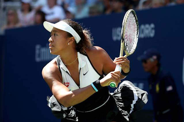 Naomi Osaka cruised to a win and is on to round 3. (Photo by Al Bello/Getty Images)