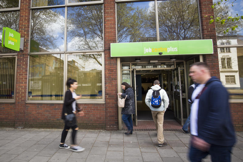 People walk near the Job Centre in Westminster. Photo: Jack Taylor/Getty Images