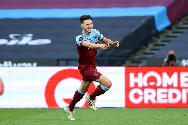 West Ham midfielder Declan Rice is another of Chelsea's main transfer targets (Richard Heathcote/NMC Pool/PA)