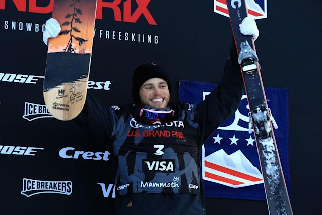 American skier Gus Kenworthy broke his thumb in practice on Thursday in PyeongChang. (Getty)