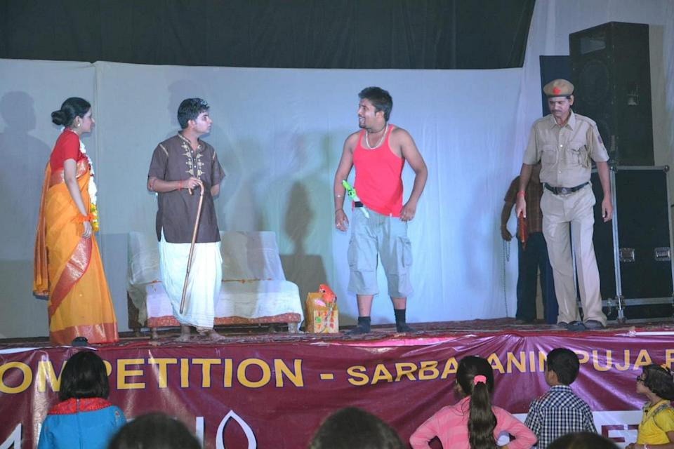 Sandeep and Upasika in the play.
