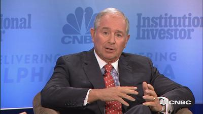 Billionaire investor and Blackstone Group CEO Steve Schwarzman tells CNBC's Michelle Caruso-Cabrera at Delivering Alpha 2017 the real reason the Trump-CEO Leadership Council was disbanded and what he sees as the biggest threat to markets today.