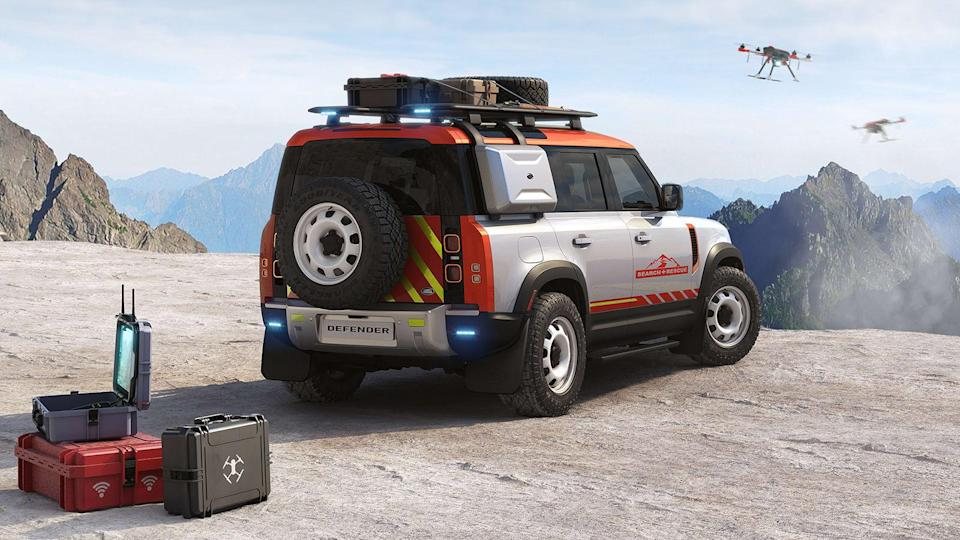 Land Rover Search and Rescue Defender rendering