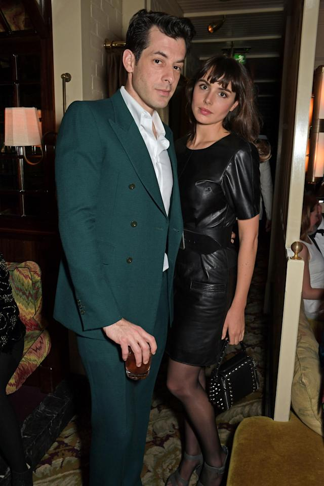 LONDON, ENGLAND - FEBRUARY 02:   Mark Ronson and Genevieve Gaunt pose the Netflix BAFTA after party at Chiltern Firehouse on February 2, 2020 in London, England. (Photo by David M. Benett/Dave Benett/Getty Images for Netflix)