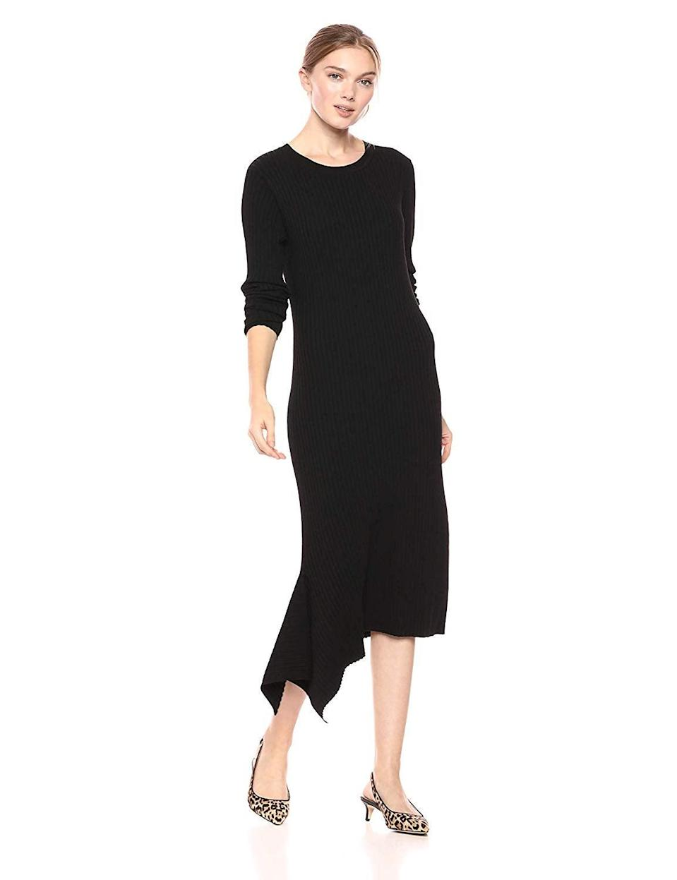"<br><br><strong>Cable Stitch</strong> Handkerchief Hem Ribbed Dress, $, available at <a href=""https://amzn.to/32uRUGY"" rel=""nofollow noopener"" target=""_blank"" data-ylk=""slk:Amazon"" class=""link rapid-noclick-resp"">Amazon</a>"
