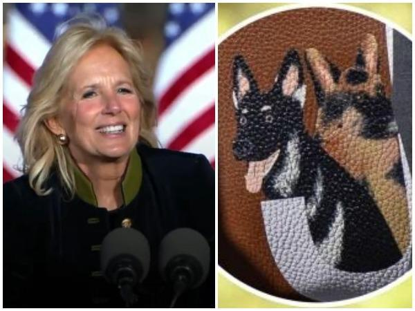 Dr Jill Biden and a glimpse of her Valentino Purse  (Image courtesy: Instagram)