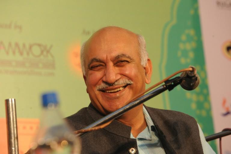 """Former minister and veteran journalist MJ Akbar - here in 2011 - claimed that the sexual harassment allegations against him were """"baseless"""" and hired one of India's top criminal law firms to represent him"""