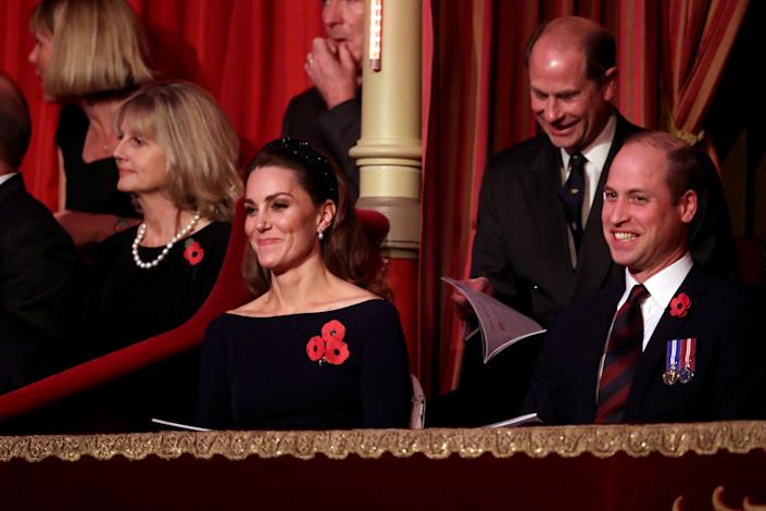 The Duke and Duchess of Cambridge and Prince Edward attend the annual Royal British Legion Festival of Remembrance on Nov. 9 in London. (Photo: Chris Jackson via Getty Images)