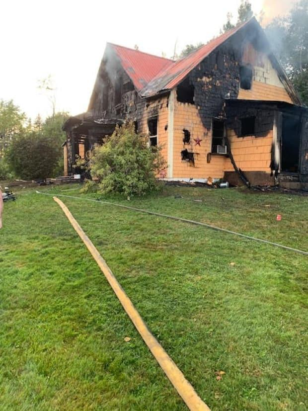A fire engulfed an elderly couple's farm house in New Perth Saturday, Aug. 30. (Name withheld - image credit)
