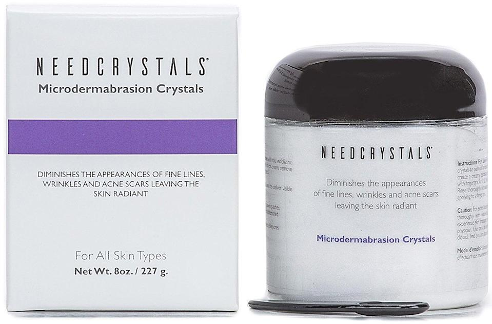 <p>Thousands of Amazon users swear by this pot of aluminum oxide <span>NeedCrystals Microdermabrasion Crystals</span> ($15), which can be massaged into the skin to promote cell turnover and smooth away debris trapped in pores.</p>