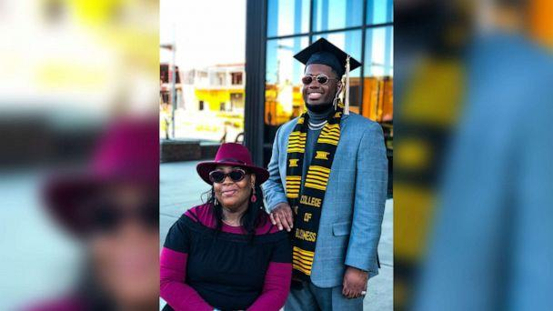 PHOTO: Tyra Muhammad, 46, and her son, Elijah, 22, both graduated from Grambling State University in November 2020. (Courtesy Tyra Muhammad)