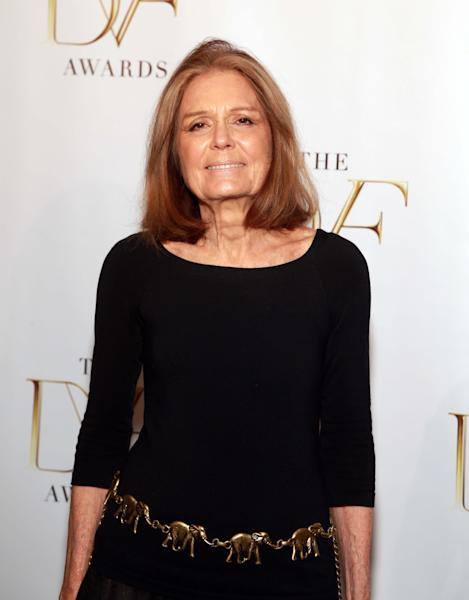 Gloria Steinem attends the The 5th Annual DVF Awards at the United Nations Headquarters on Friday, April 4, 2014 in New York. (Photo by Luiz C. Ribeiro/Invision/AP)