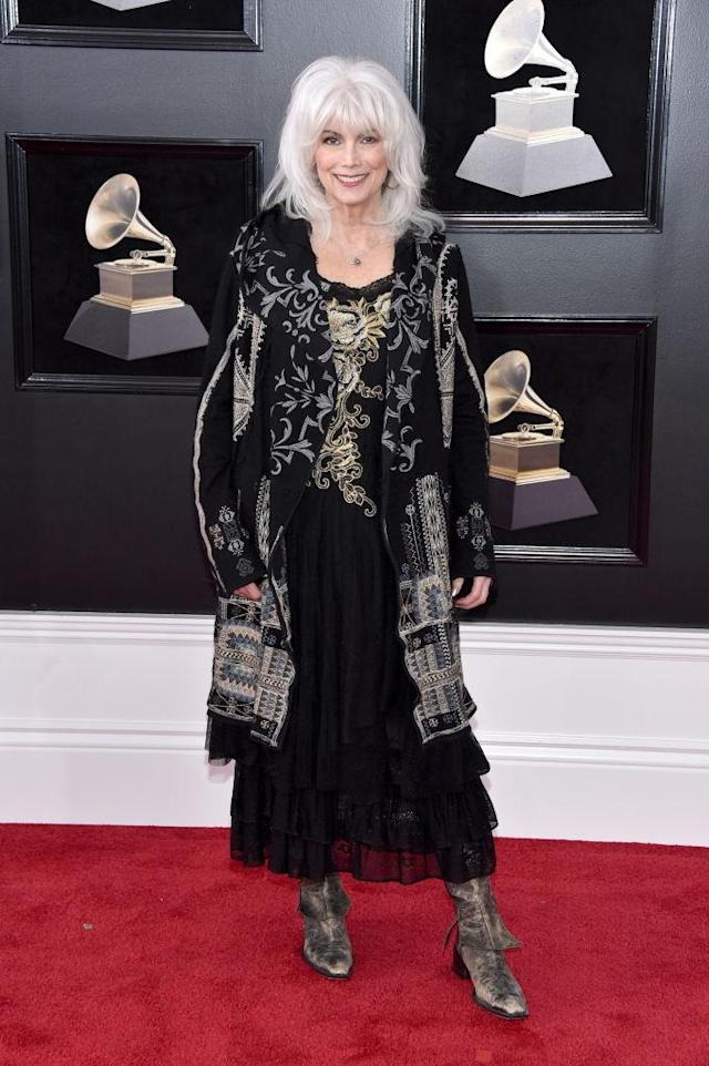 <p>Emmylou Harris attends the 60th Annual Grammy Awards at Madison Square Garden in New York on Jan. 28, 2018. (Photo: John Shearer/Getty Images) </p>