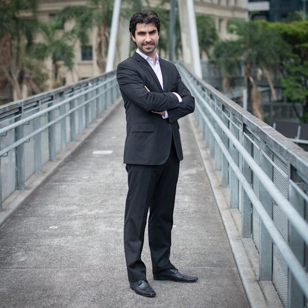 Eduardo Borges, Brazil's representative of Ashley Madison, poses for a photo in Sao Paulo, on December 10, 2012. Since it arrived in Brazil 15 months ago, the website has attracted one million lusty Brazilians, turning this South American country of 194 million people into one of the biggest markets for the Canadian company