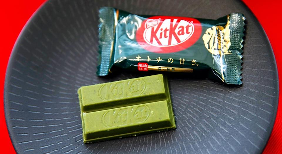 The green tea KitKat is coming to the UK. [Photo: Getty]