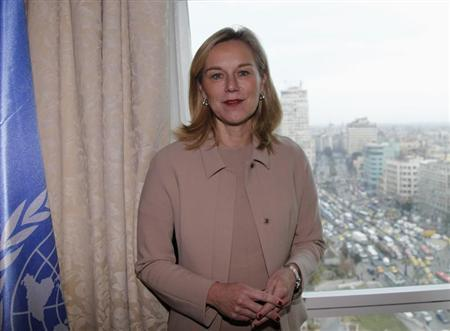 Kaag, Special Coordinator of the OPCW-UN joint mission on eliminating Syria's chemical weapons programme, poses during interview with Reuters, in Damascus