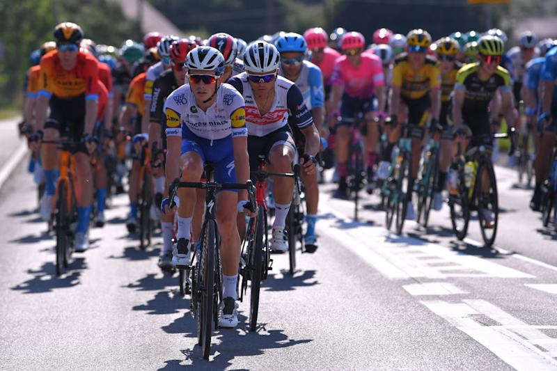 KRAKOW POLAND AUGUST 09 James Knox of The United Kingdom and Team Deceuninck QuickStep during the 77th Tour of Poland 2020 Stage 5 a 188km stage from Zakopane to Krakow TourdePologne tdp20 on August 09 2020 in Krakow Poland Photo by Luc ClaessenGetty Images