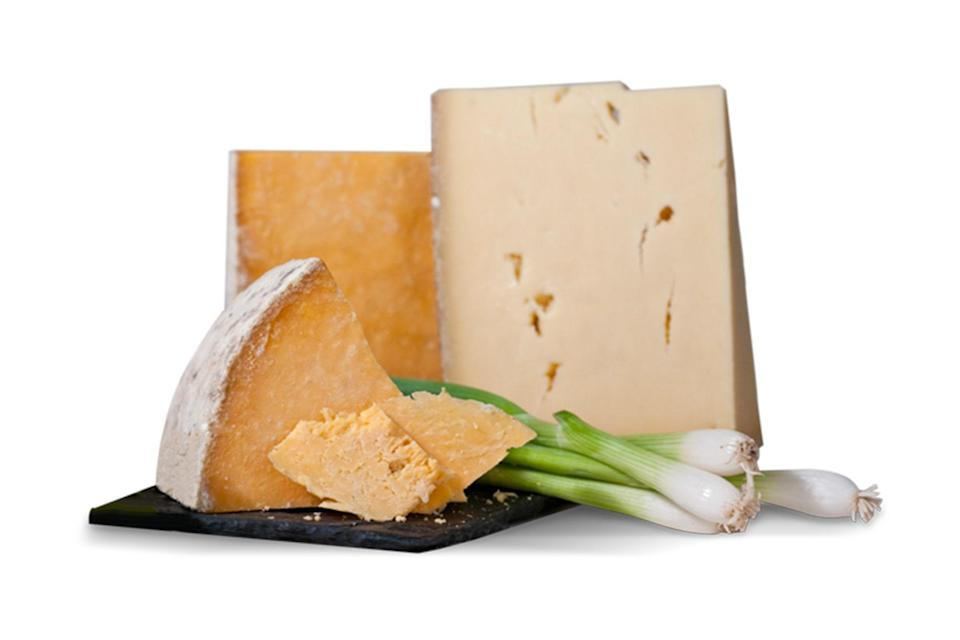 """More cheese please! This box comes complete with three artisan cheeses. It's incredibly fresh, thanks to the fact that it's cut and delivered the same day. The cheese even comes with tasting notes, profiles, pairing suggestions, and a history on the cheesemaker. $35.95, Gourmet Cheese of the Month. <a href=""""https://www.cheesemonthclub.com/join-or-give-a-gift-membership"""" rel=""""nofollow noopener"""" target=""""_blank"""" data-ylk=""""slk:Get it now!"""" class=""""link rapid-noclick-resp"""">Get it now!</a>"""