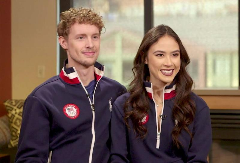 From left: Evan Bates and Madison Chock